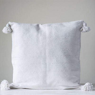 Natural Cotton Pillow Sham With Tassels