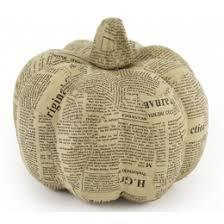 Newsprint Pumpkin