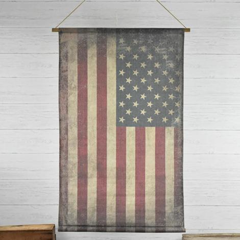 Old Fabric Flag Banner-Decor-A Cottage in the City