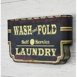 Old Fashioned Wash & Fold Laundry Sign