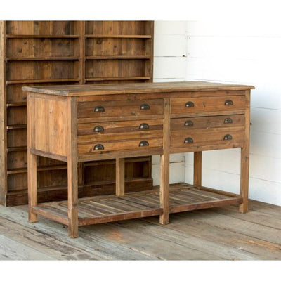 Old Pine Farmhouse Kitchen Island