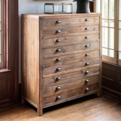Old Pine Map Drawer Dresser