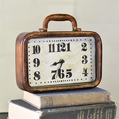 Old Suitcase Clock