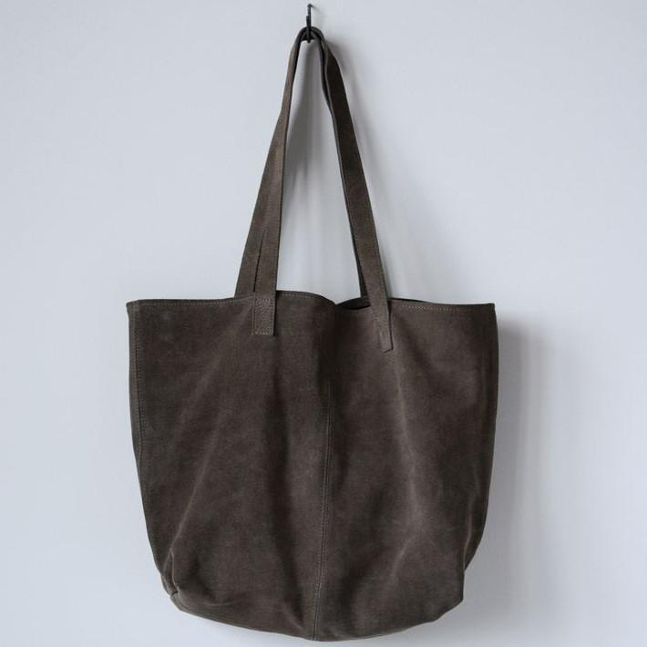 Olive Suede Tote-Gifts-A Cottage in the City