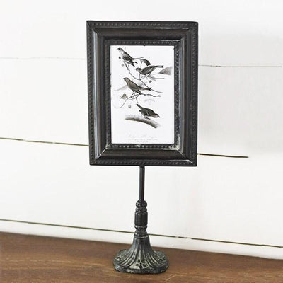 Ornate Black Metal Standing Frame