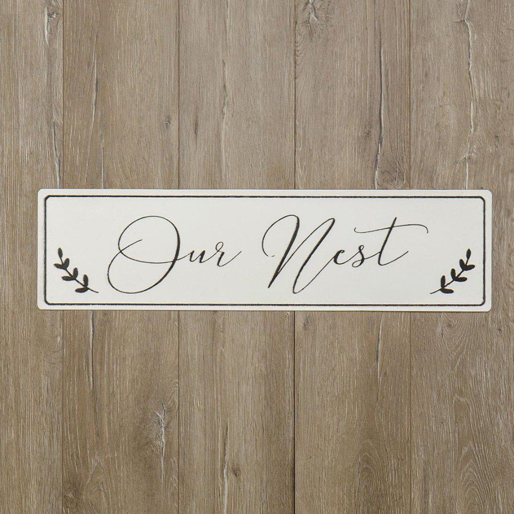 Our Nest Enamel Metal Sign-Decor-Ragon House-A Cottage in the City
