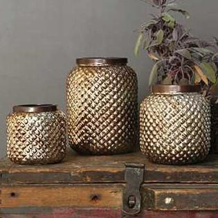 Oxidized Copper Tea Light Holder
