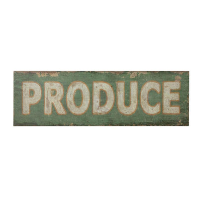 Produce Wood Sign