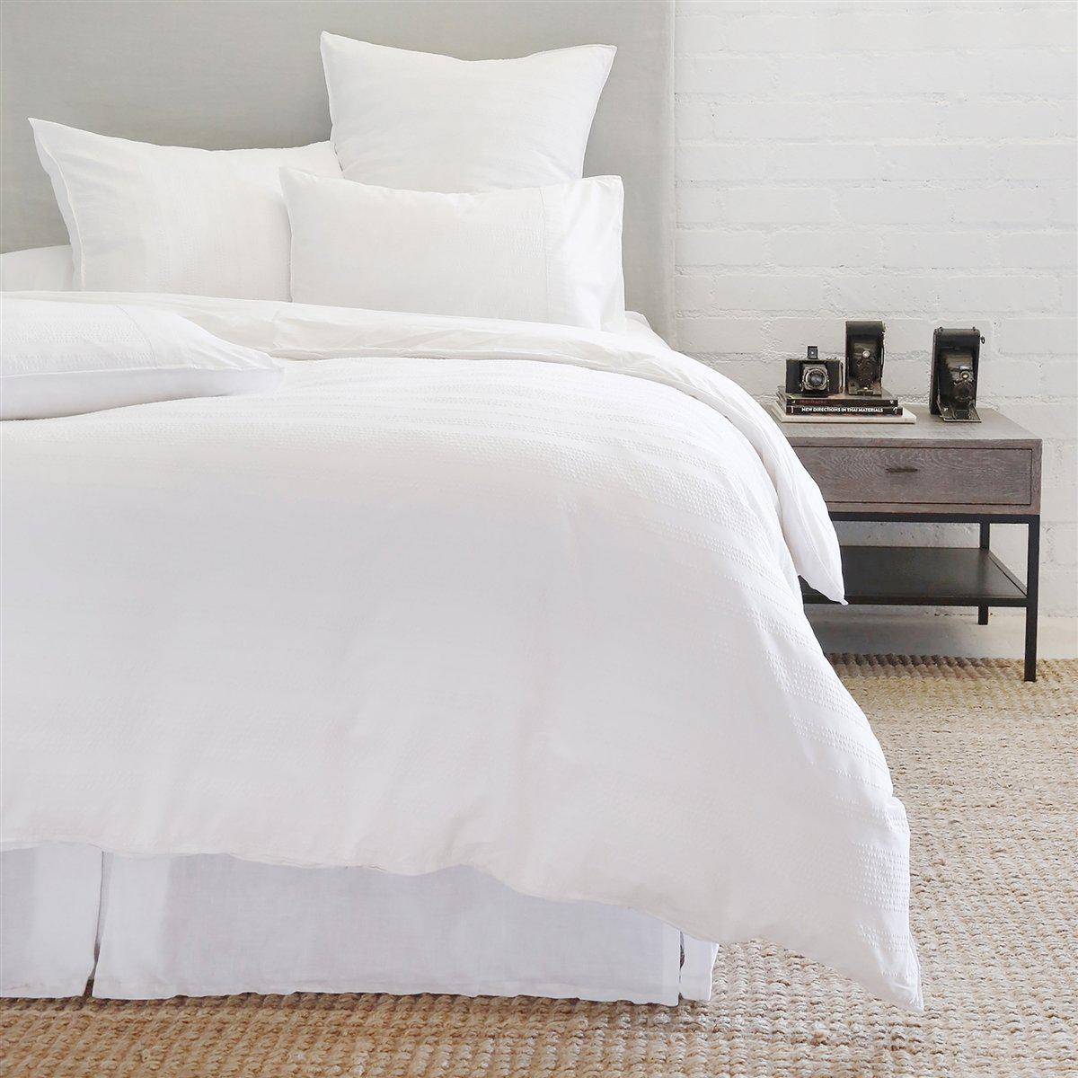 Quinn Duvet by Pom Pom at Home-Bed & Bath-Pom Pom-Queen-White-A Cottage in the City