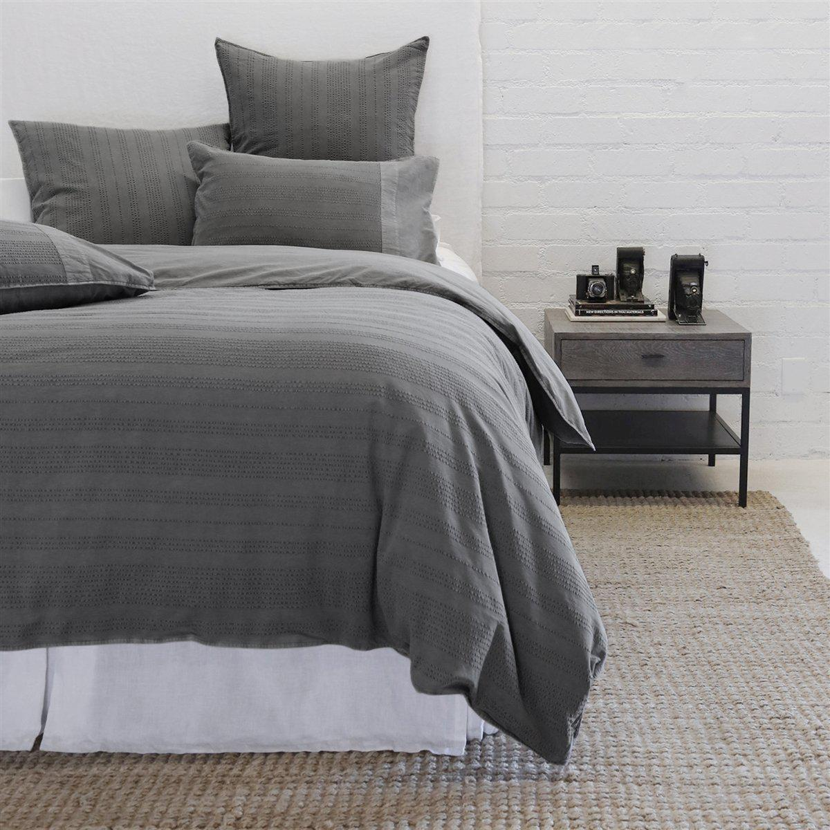 Quinn Duvet by Pom Pom at Home-Bed & Bath-Pom Pom-Queen-Grey-A Cottage in the City