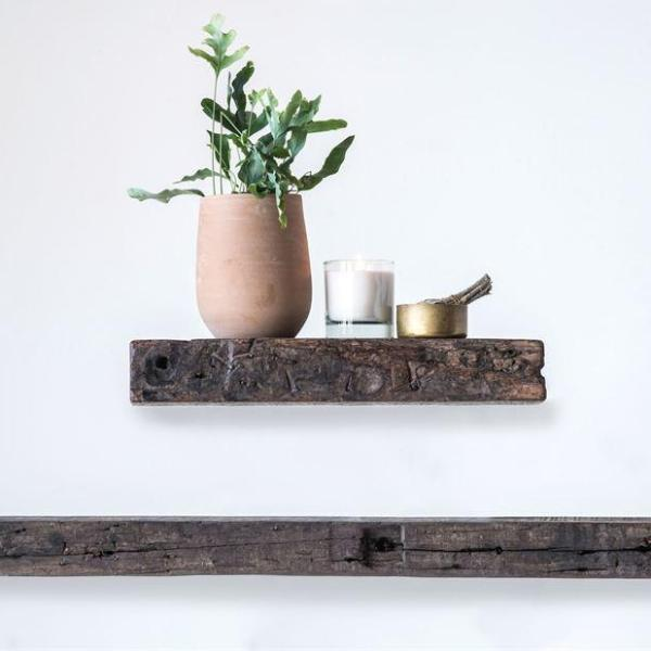 "Reclaimed Wood Wall Shelf-Decor-Creative-18""-A Cottage in the City"