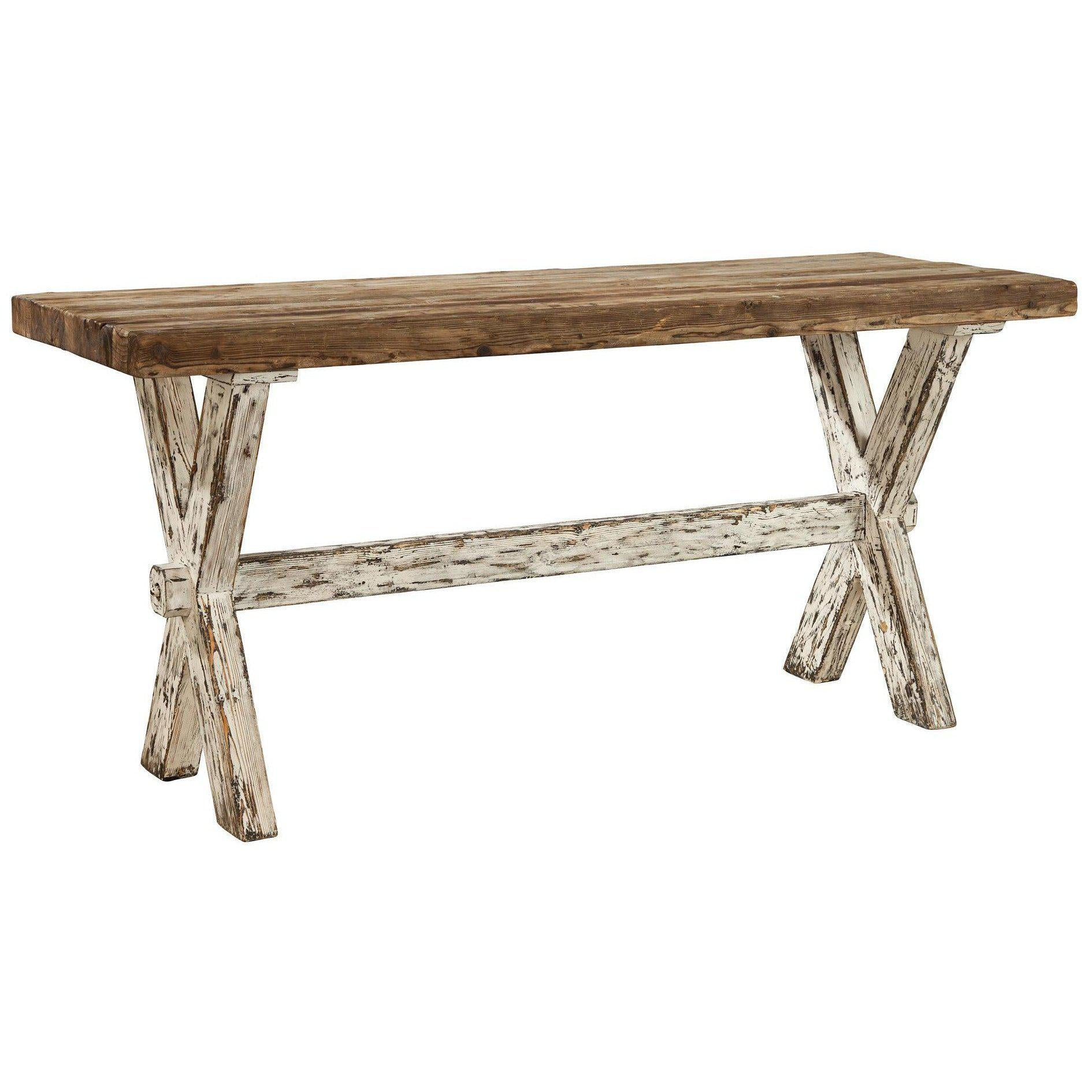 Recycled Pine Cross Console Table-Furniture-A Cottage in the City