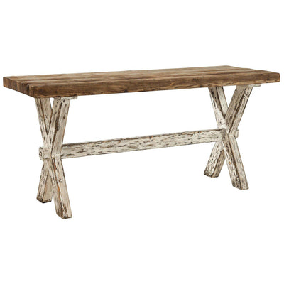 Recycled Pine Cross Console Table