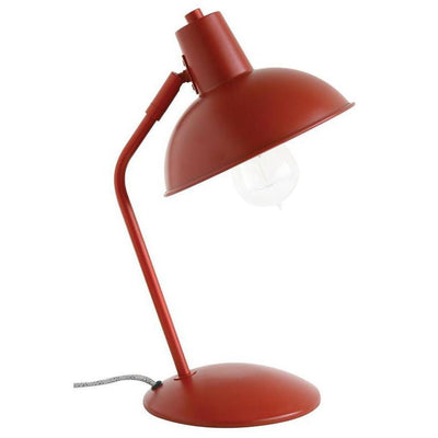 Red Metal Desk Lamp