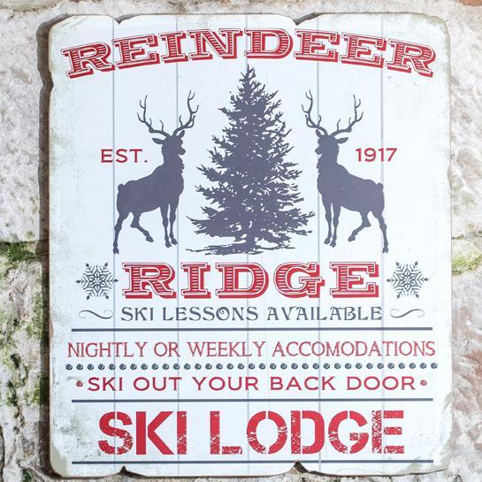 Reindeer Ridge Wood Sign-Seasonal-A Cottage in the City
