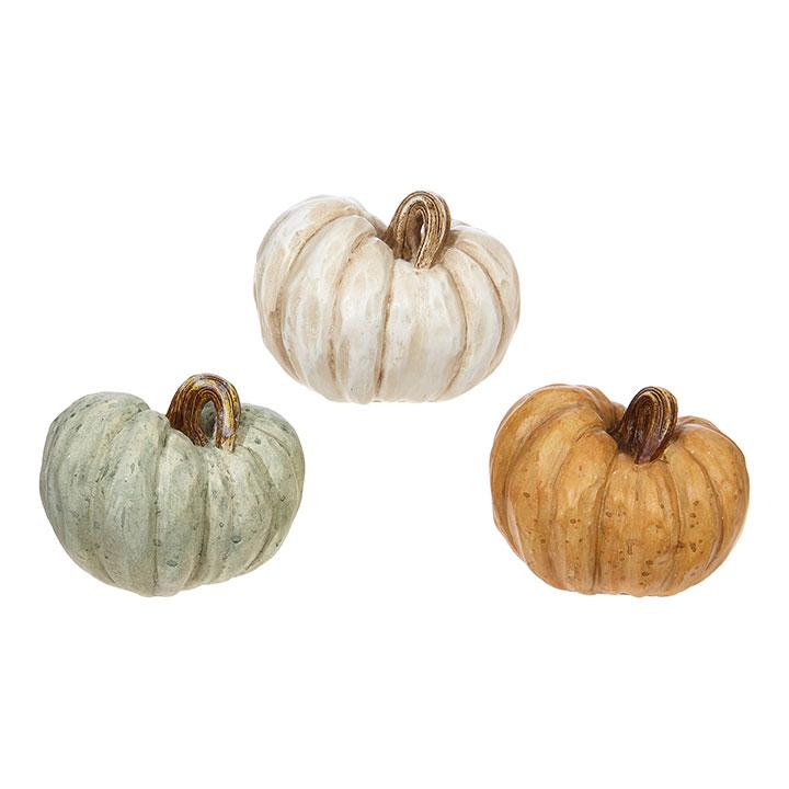 Resin Fall Pumpkin-Seasonal-Raz-White-A Cottage in the City