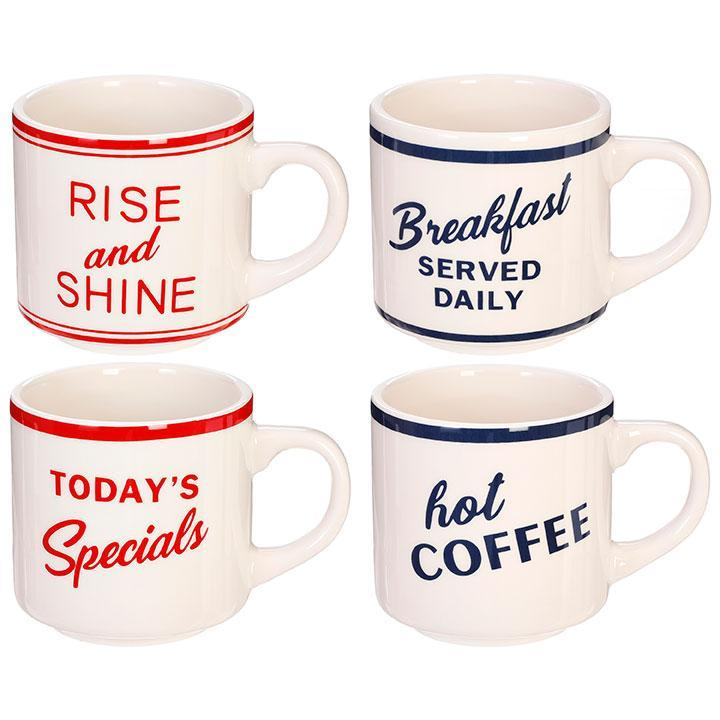 Retro Diner Mugs-Tabletop-Raz-Rise and Shine-A Cottage in the City