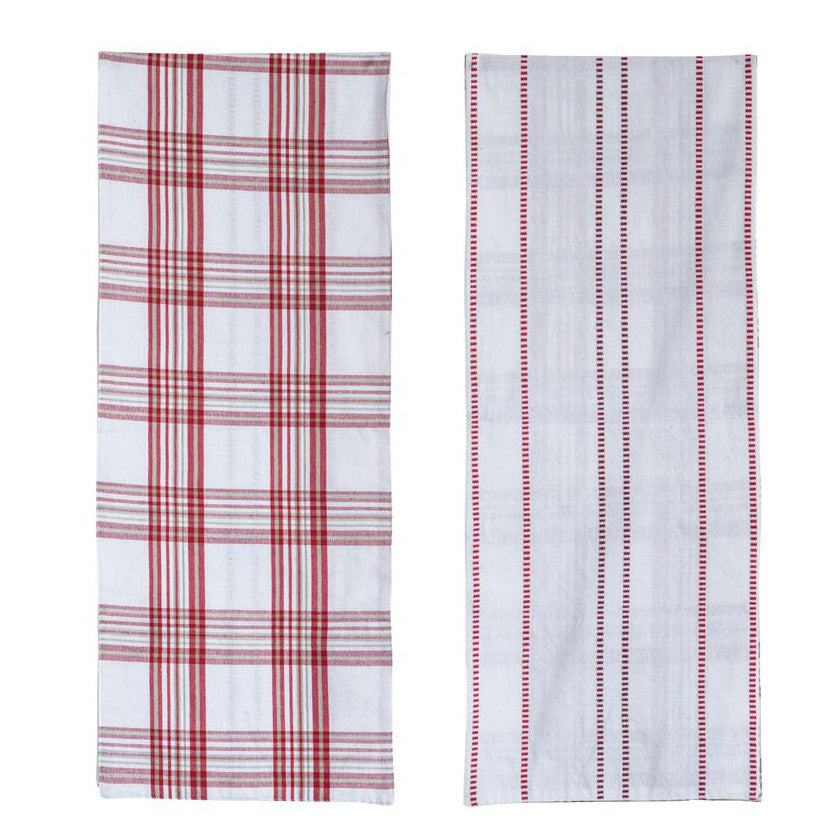 Reversible Red & White Table Runner-Tabletop-A Cottage in the City