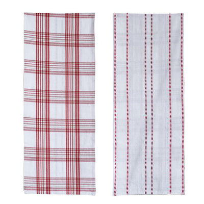 Reversible Red & White Table Runner