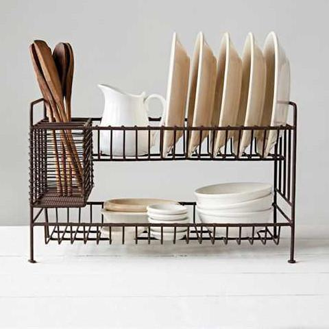 Rust Metal Dish Rack-Tabletop-A Cottage in the City