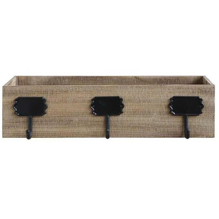 Rustic Wood Box Triple Stocking Holder-Seasonal-Creative-A Cottage in the City
