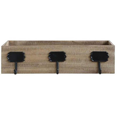 Rustic Wood Box Triple Stocking Holder