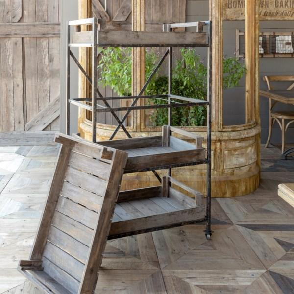 Rustic Wood Greenhouse Cart-Furniture-Park Hill Collection-A Cottage in the City