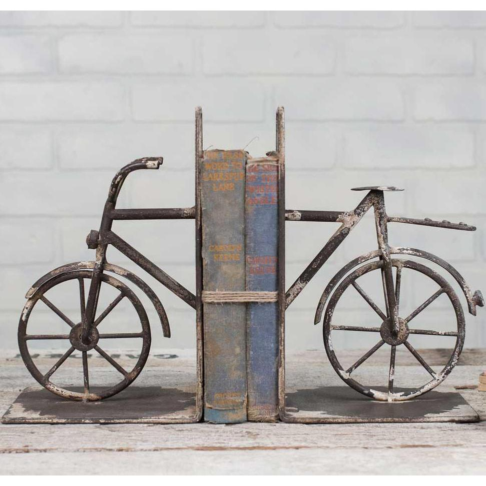 Rusty Metal Bicycle Bookends