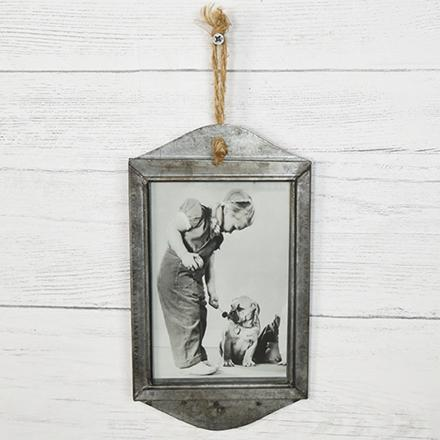 Rusty Metal Hanging Frame-Decor-A Cottage in the City