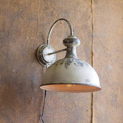 Rusty White Wall Lamp