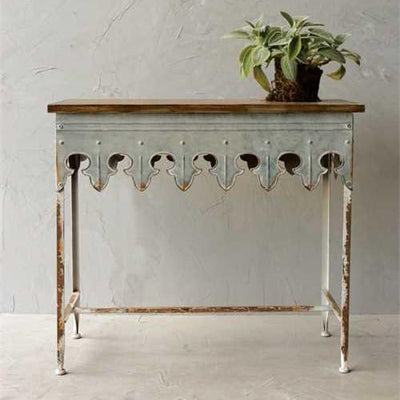 Scalloped Zinc Table