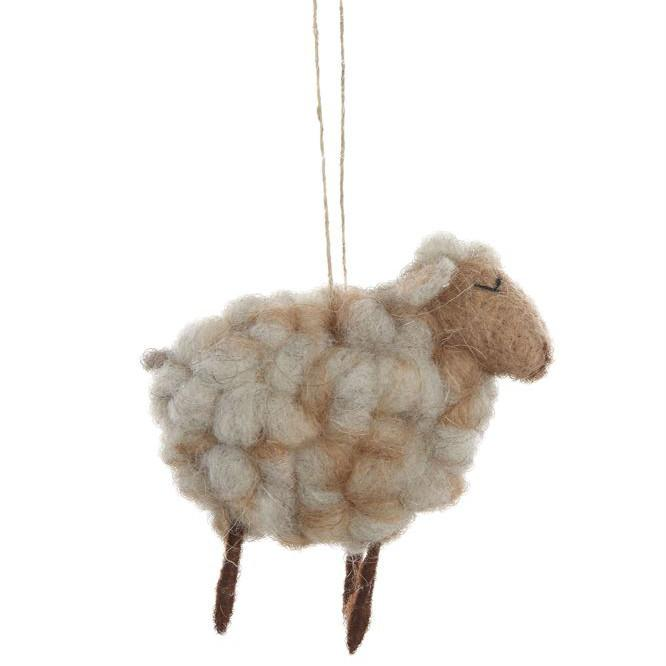 Small Wool Felt Sheep Ornament-Seasonal-Creative-A Cottage in the City