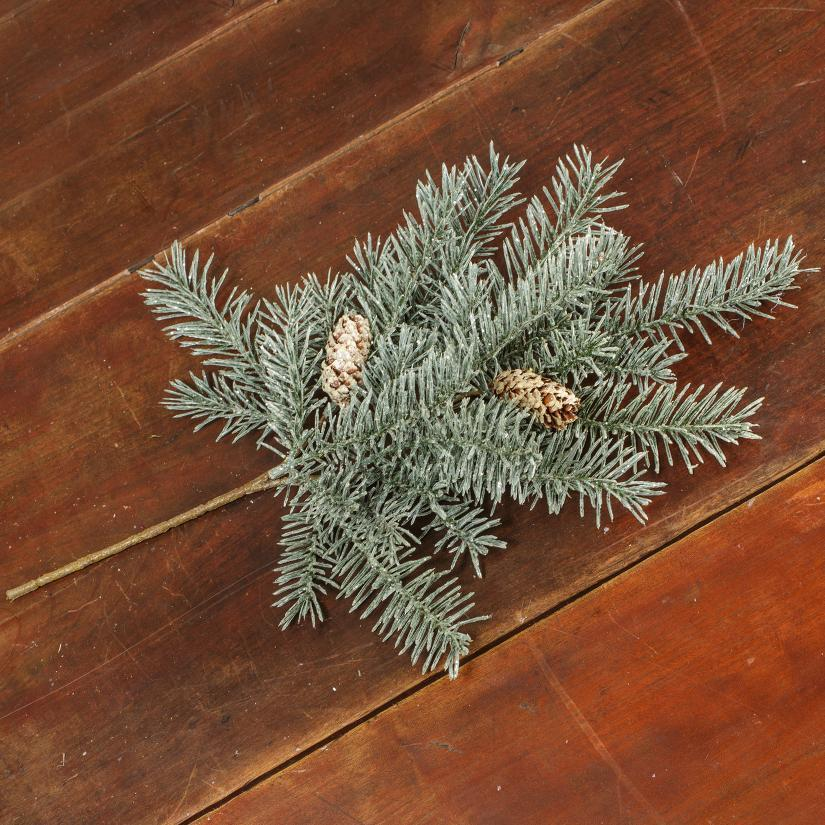 Snowy Douglas Fir Pick With Pinecones-Seasonal-A Cottage in the City