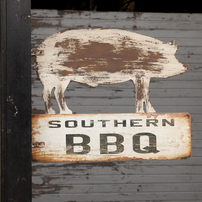 Southern BBQ Pig Sign