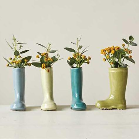 Stoneware Garden Boot Vase Set-Decor-A Cottage in the City