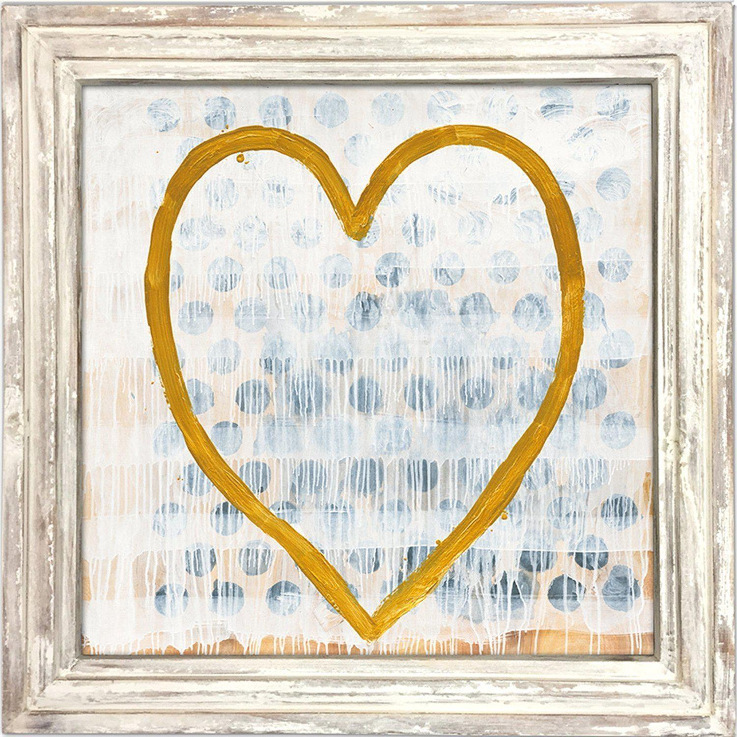 Sugarboo Designs Heart Of Gold Art Print-Brands-36x36-White Wash Frame-$25 Rush Order Fee-A Cottage in the City