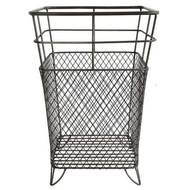 Tall Wire Metal Basket-Decor-A Cottage in the City
