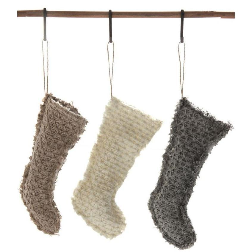 Textured Fabric Stocking Ornament
