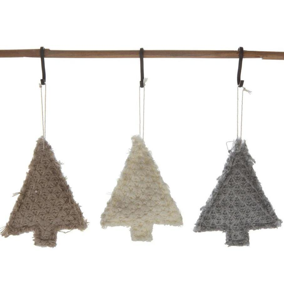 Textured Fabric Tree Ornament-Seasonal-Brown-A Cottage in the City
