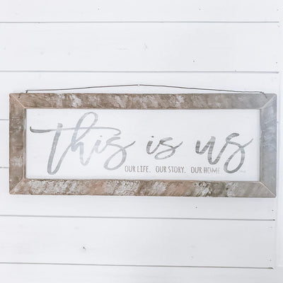This Is Us Rustic Framed Print