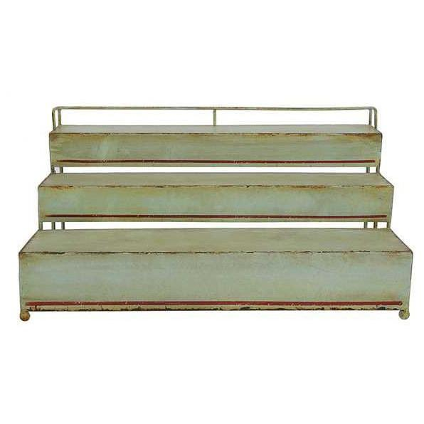 Three Tier Vintage Green Metal Shelf-Decor-A Cottage in the City