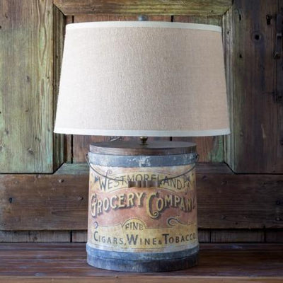 Tobacco Barrel Lamp