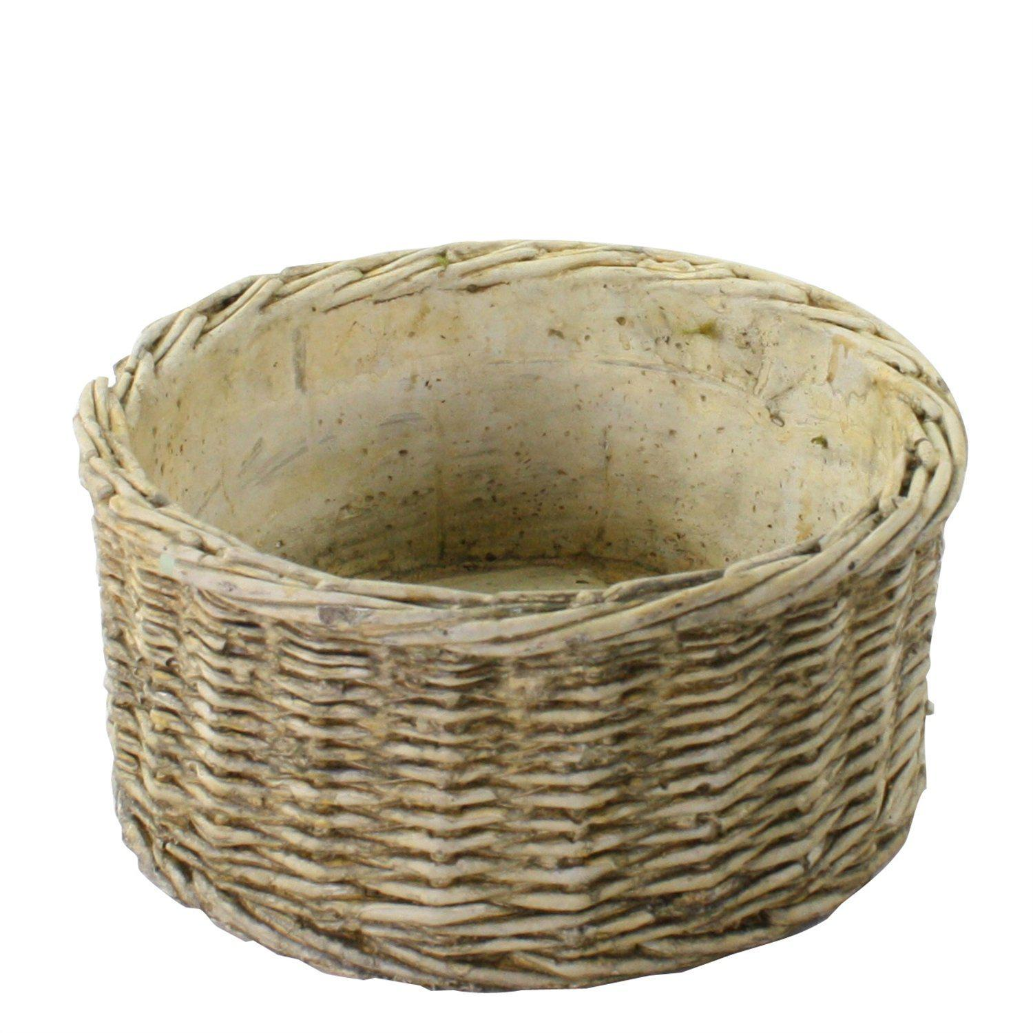 Twined Weave Cement Basket-Decor-A Cottage in the City