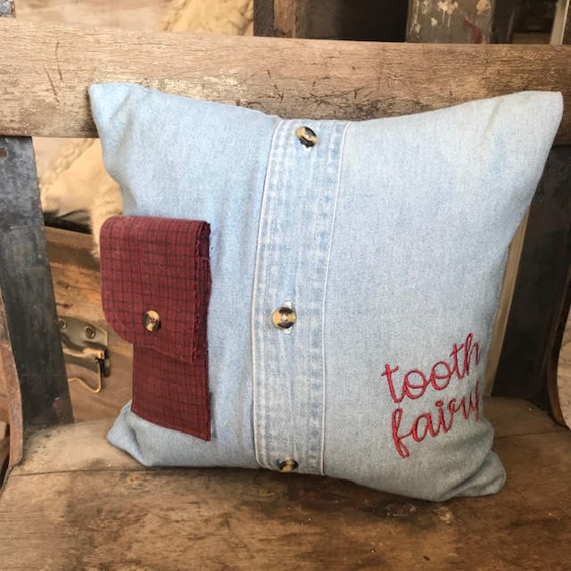 Repurposed Tooth Fairy Pillow-Decor-A Cottage in the City