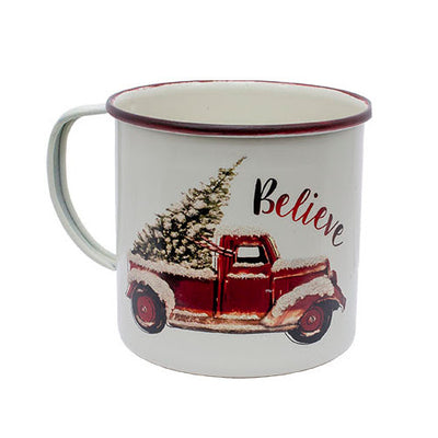 Red Truck Christmas Tree Mug