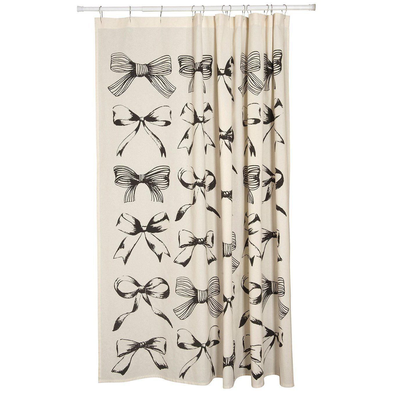 Vintage Bows Shower Curtain-Bed & Bath-A Cottage in the City