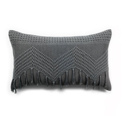 Vintage Crochet 14x24 Sham by Pom Pom at Home-Bed & Bath-Pom Pom-Grey-A Cottage in the City