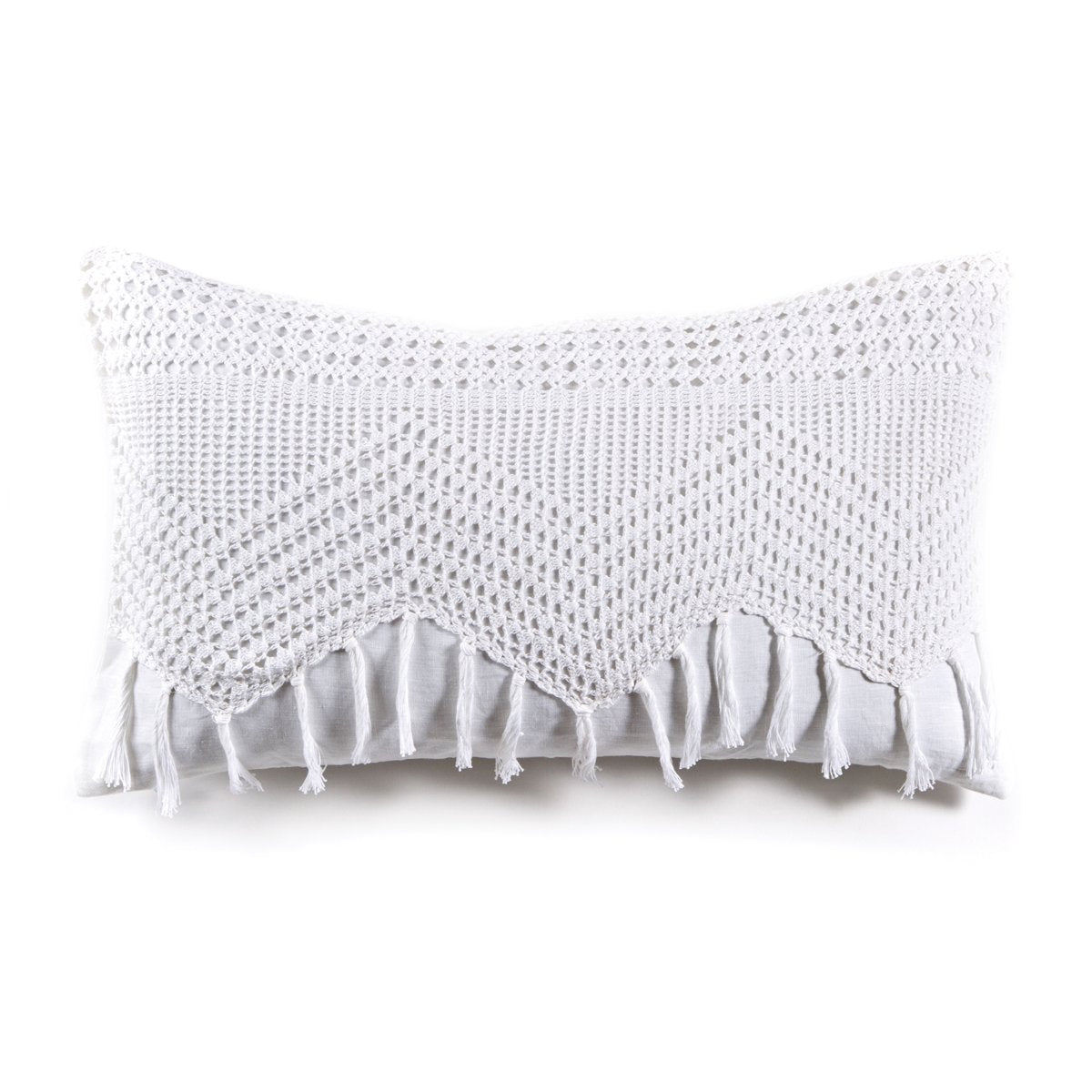 Vintage Crochet 14x24 Sham by Pom Pom at Home-Bed & Bath-White-A Cottage in the City