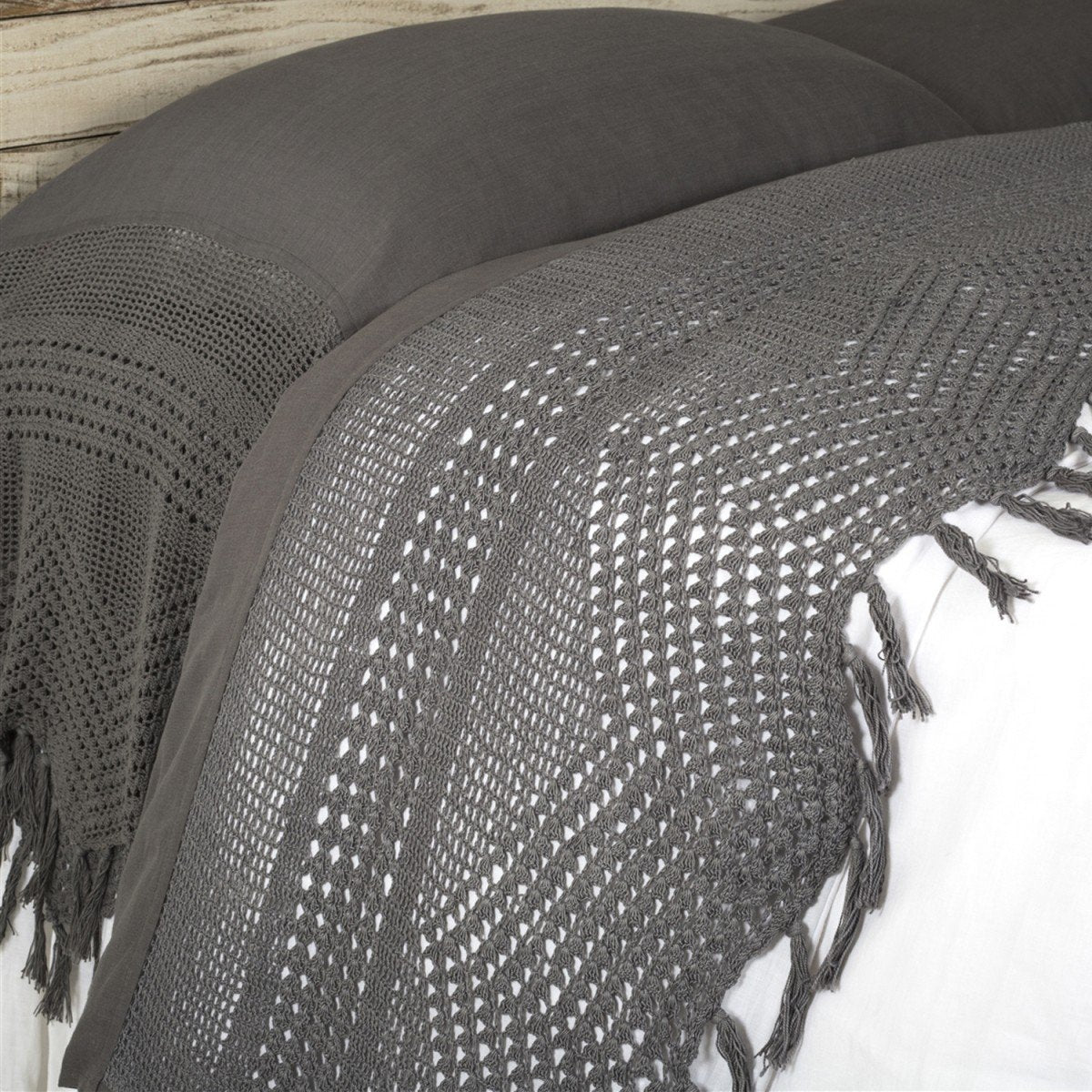 Vintage Crochet Flat Sheet by Pom Pom at Home-Bed & Bath-Pom Pom-Queen-Midnight-A Cottage in the City