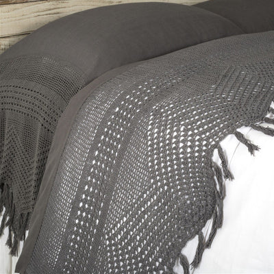 Vintage Crochet Flat Sheet by Pom Pom at Home-Bed & Bath-Queen-Midnight-A Cottage in the City
